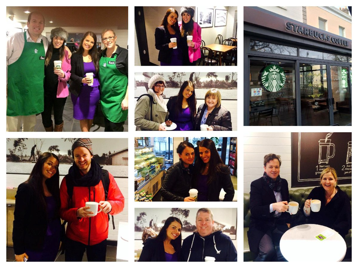 Our friends @WaxpertsWax paying it forward, treating strangers to Starbucks coffee. #PoweringKindness #mariekeating http://t.co/TuRb2OL0oa