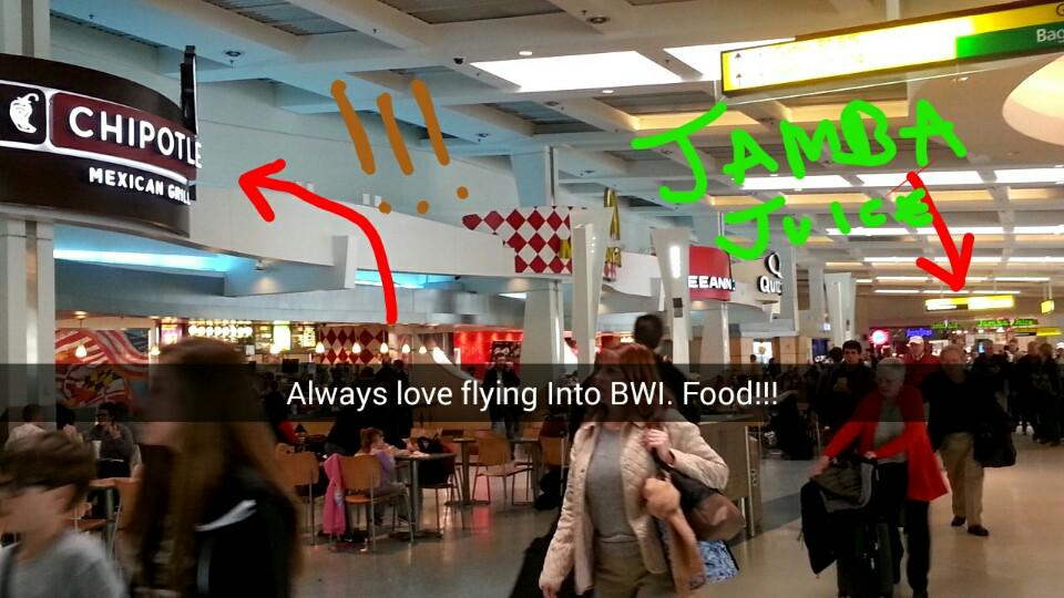 RT @michellekenobi: Is it funny that I have a favorite airport food court? BWI is my favorite connection! http://t…