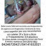 #25E URGENTE este bebé requiere de un Traqueostomo y un Catéter | DALE RT http://t.co/M1DbzARBFe (via @360UCV)