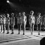 Let's compare tonight's #MissUniverse fashion choices to the ones in 1953. Photo: George Silk http://t.co/jfWYZA4SGR
