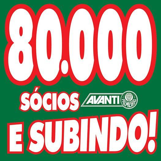 MUITO OBRIGADO,TORCIDA QUE CANTA E VIBRA! #80MilAvantiPalmeiras http://t.co/b30beBFjYh
