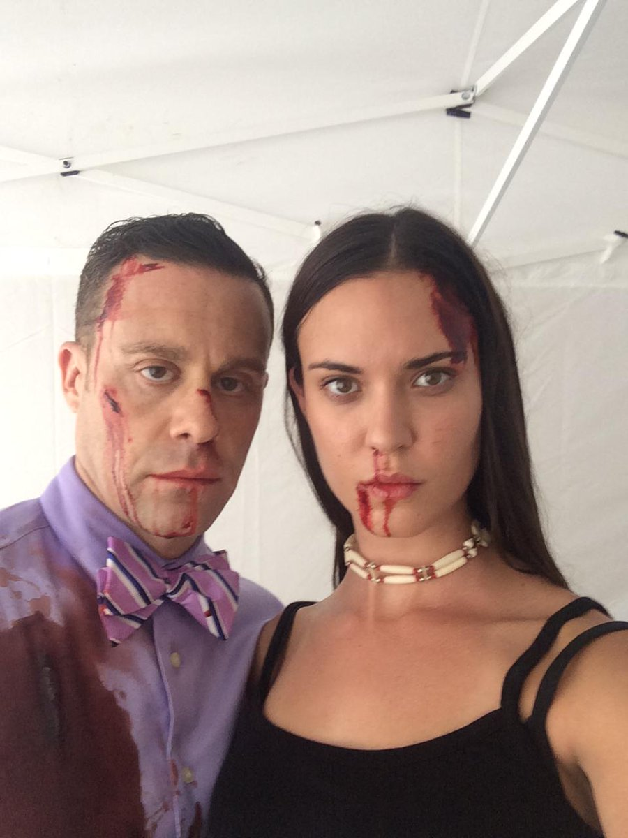 """@mattyrauch: there's no woman i respect more in the world than @OdetteAnnable @Cinemax #BloodInBanshee http://t.co/Y8iD3mChUc"""