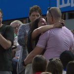 Two spectators get engaged... and #Djokovic applauds! #AusOpen http://t.co/XNsBlPMC4a