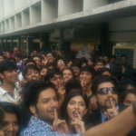 Shhhhhhhh Our young actors with the gorgeous kids of N M College , Juhu.  #Khamoshiyan ..Silences have Secrets .