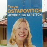 LNP candidate caught out covering up LNP logo on election poster. #QLDvotes #QldPol http://t.co/ziyi3LYqki