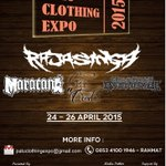 PALU CLOTHING EXPO 2015 | 24-26 April 2014 | GS @grindcoresinga | More info: @PemudaTees http://t.co/xR8QrVaA3T