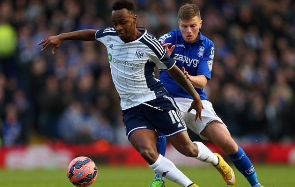 MATCH ACTION: @SBerahino, with two assists, protects ball v #bcfc. #wba lead 2-1 courtesy of Victor Anichebe's brace http://t.co/oJu0y101hh