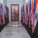 All decked up. Hyderabad House ready for PM @narendramodis meeting tomorrow with US Prez @BarackObama. Sneak peek. http://t.co/IrTHCiQn3q