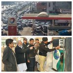 Feel the difference no petrol in all over punjb Pic 2 A.c Pesh checking Petrol price at diff Pumps #QuaidEQillat http://t.co/uyJAWMuxoZ