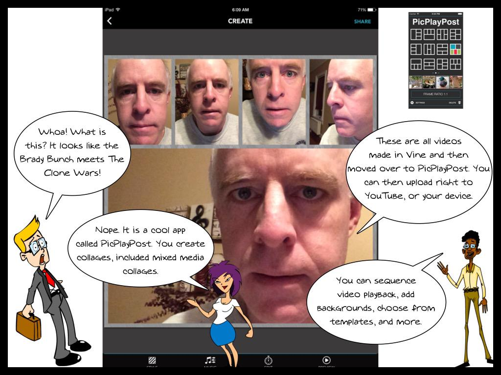 My comic tutorial on using PicPlayPost app for media collages ... #youshow15 reference to Brady Bunch and Clone Wars http://t.co/hpzERlsu4A