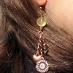 Sun, Hearts & Flowers Handmade Dangle Copper Earrings with Citrine http://t.co/HuFW7KcuYt http://t.co/HLeqBbkacl #etsymntt #ValentinesDay 4