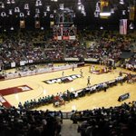 Battle for 1st place is on the line today for @ULM_MBB.   Can we match this crowd?  #FillFant #TalonsOut http://t.co/50skeEe2lt