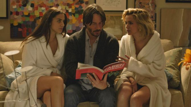 SUNDANCE FILM REVIEW: Keanu Reeves is a great sport in Eli Roth's reasonably fun KNOCK KNOCK: