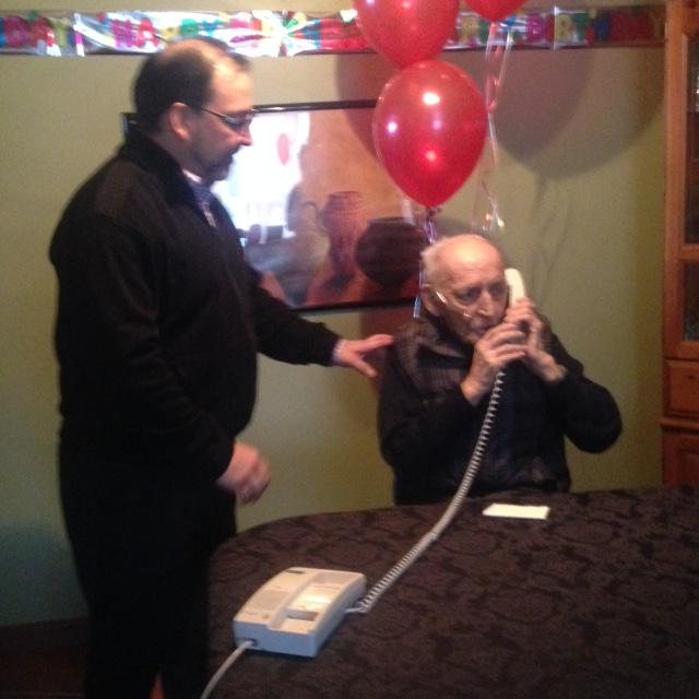 To top it all off, a surprise call from former PM Jean Chrétien to wish dad a Happy Birthday! Loving it!