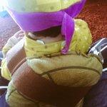 Un sábado tranquilo con una tortuga Ninja! Gracias por el regalo ;) http://t.co/5JyIMDRy0K