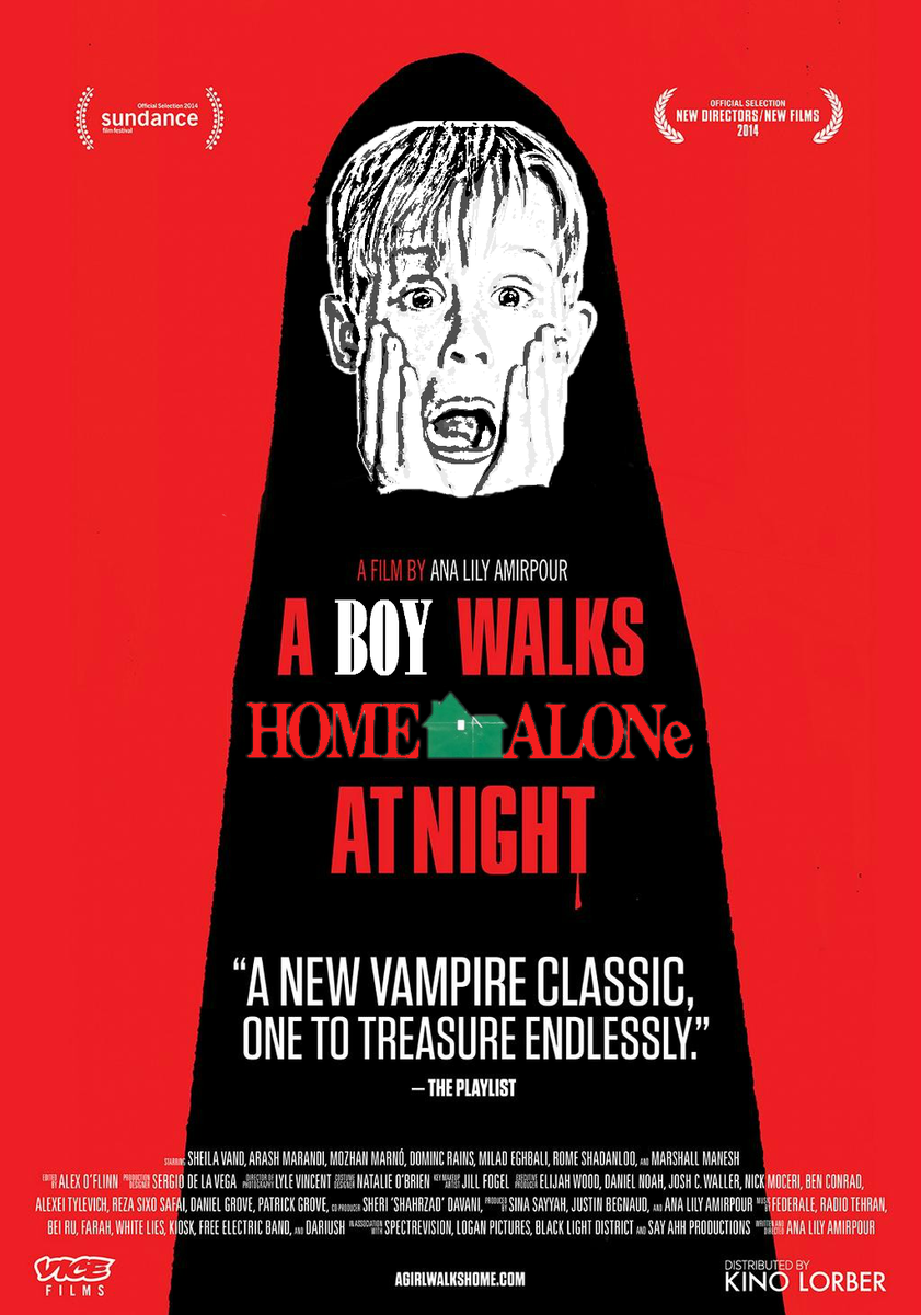 A Boy Walks #HomeAlone At Night.  (Apologizes to @Lilyinapad in advance) #AGirlWalksHomeAloneAtNight #MovieMashUp http://t.co/CZORYYJ6ie