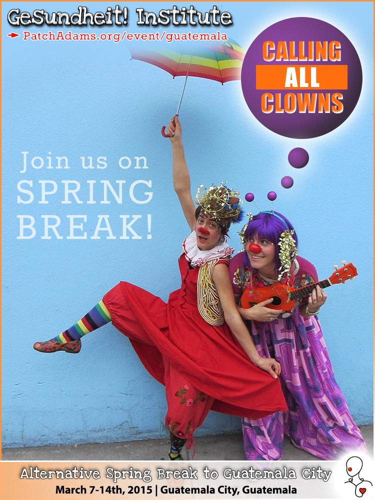 Discover your loving inner clown by joining us on #SpringBreak in Guatemala City Mar. 7-14th-> http://t.co/8NnssHsjvO http://t.co/vIEhmLR4LF