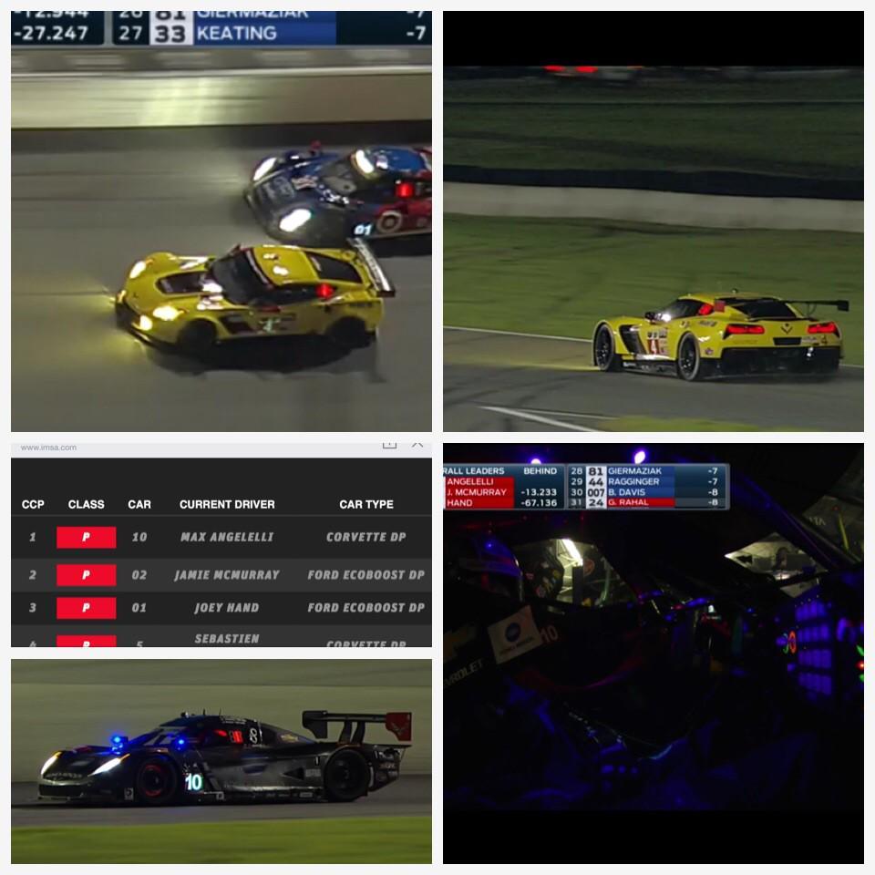 Daytona 24 コルベットはどちらのクラスもトップを走ってます。まだ18時間以上あるので引き続き応援します。  C7Rのデビュー戦、ポールでしたからね、そのままゴールしてほしい! http://t.co/6HBwCE69Is