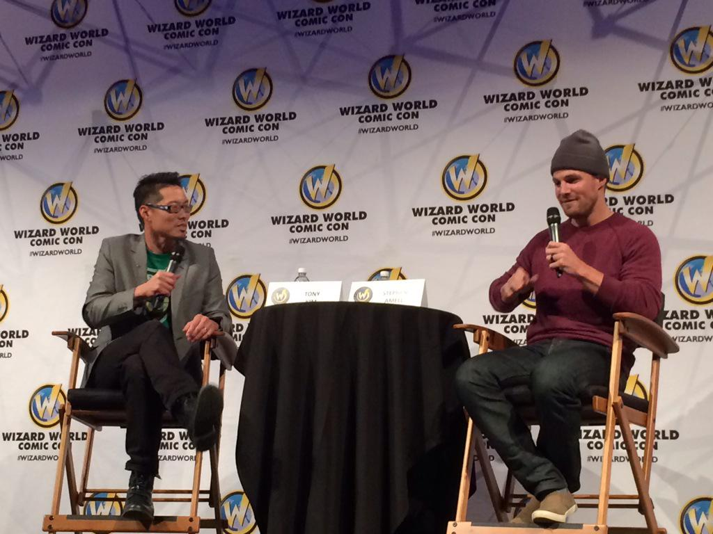 It's the panel I've been waiting for all day!  @amellywood rocks the @WizardWorld audience! #wwarrow #arrowpanel http://t.co/39xF8utlJi