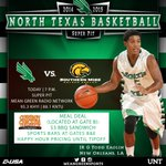 The Pit is the place to be for @MeanGreenMBB tonight! @cowboychicken has $3 sandwiches/tacos and $1 peach cobbler! http://t.co/51Og3l35tr