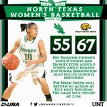 FINAL from Hattiesburg, Miss.: @MeanGreenWBB 55, Southern Miss 67. #GoMeanGreen http://t.co/LBdz4Ptrdq