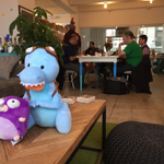 My bff #GoGopher and I chillin out, maxin, & relaxin all cool @ the Timehop HQ #gophergala @golang http://t.co/EthThBnexc