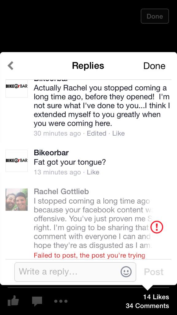 A fitness business just tried to fat shame me for not liking their business practices. @bikeorbar @WGRZ @WKBW http://t.co/siUqVIqWPU