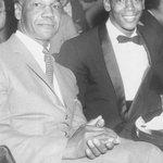 Gentlemen of Distinction: A dapper Buck ONeil & Ernie Banks enjoying a night out! @Cubs @MLB #RIP RT http://t.co/xembn9yalT