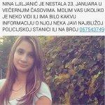 Молим РТ, помозите да се пронађе Нина. http://t.co/aEhMkldmlh