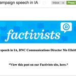 """DNC Communications Director Mo Elleithee issued the following statement in response to Palin:  """"Thank you!"""" http://t.co/aBYSZA2oQ7"""