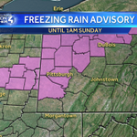 Slick spots tonight! A freezing rain advisory is in place until 1am Sunday. Untreated surfaces could be slick! @WTAE http://t.co/CVPVemXsrx
