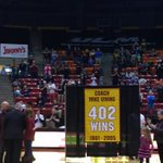 #ULM honors winningest coach Mike Vining at halftime of mens game http://t.co/rujja4GbXj