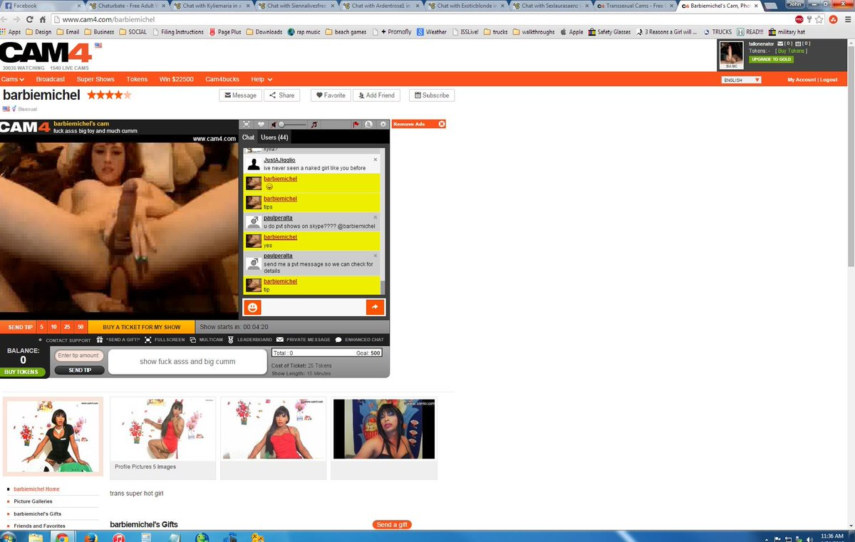 Apparently Barbiemichel on likes to use recorded videos of my past cam shows & broadcast them to