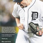 Max Scherzer thanks the #Tigers and their fans in a full-page ad in todays @freep. http://t.co/5qj1H9gI4G