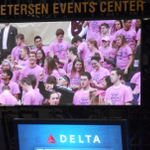 Gr8 game by @PittWomensHoops today! Big win! @OaklandZoo continues to impress! #PinkZoo #LetsGoPitt @Delta http://t.co/rxi4qhgPZA