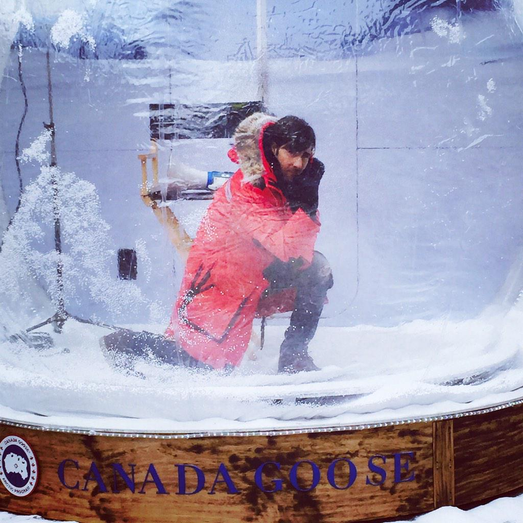 Jason Schwartzman striking a pose in the snow globe.  #Sundance #AskAnyoneWhoKnows http://t.co/NdE49D5UZ2