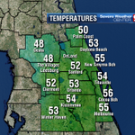 Cooling into the 40s in spots already with 10 more hours for temps. to fall further. #wftv http://t.co/v184ZoY2nC