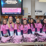 Thx @pitt_cheer 4 helping 2 give out pink totebags! #PinkThePetersen @UPMCHealthPlan @PittWomensHoops @PittIMGSports http://t.co/OE3OXknohO
