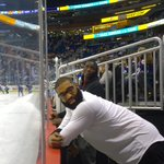 .@OrlandoMagics @VicOladipo and @Kyle_OQuinn watching the @OrlandoHockey game during the second period. http://t.co/F3VBXIxCN3