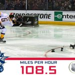 108.5mph: Shea Weber is the new King of the Cannon and winner of the #NHLAllStar @AMPEnergy Hardest Shot Competition. http://t.co/HS13uafhEl