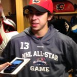 """Im really honoured."" - Johnny Gaudreau on being named to the #NHLAllStar Game http://t.co/5sk0eA01Xj"