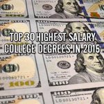 The 30 highest paying majors in the world! 💰🙌 http://t.co/aZ31U69O63 http://t.co/UPevFvCIGl