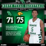 FINAL: USM comes from behind to down North Texas hoops. @Jus_Finessin23 moved into 10th in NT history in scoring. http://t.co/DvWYCqidEK