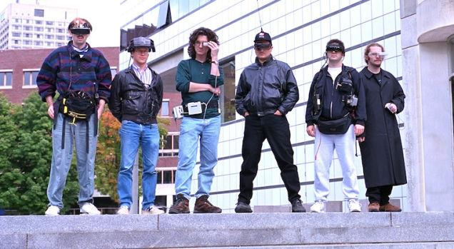 """""""@ValaAfshar: Wearable technology - 1993 MIT Media Lab students. http://t.co/jXIuHnuvef"""" cool party"""