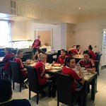 Todays prep is underway, group breakfast! #Gameday #CupRun #SCFC #DreamBelieveAchieve ⚽️⚪️???? http://t.co/cvUBmEoAlw