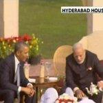A walk followed by chai break at Hyderabad House for Obama and PM Modi #NamastePOTUS http://t.co/zPusu0bib5 http://t.co/6VOJOoJOQB