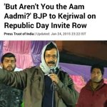 BJP rightly said Kejriwal should attend the Republic Day Function as a common man because he is against VIP culture. http://t.co/mi2yXOSl62
