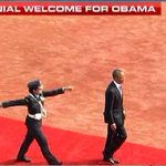 What a proud moment! Wng commander Pooja Thakur escorted President @BarackObama for d guard of honor. #NamastePOTUS http://t.co/3JznEUFAKm