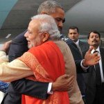 The warmest hug.... #Obama arrives #India http://t.co/1PlbR4AXKI