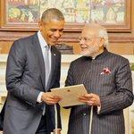 PM @narendramodi and President @BarackObama at the Hyderabad House #NamasteObama http://t.co/ZoGv7DQGQ2
